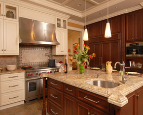 granite countertops and cabinets